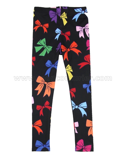 Love Made Love Leggings with Multicoloured Bows
