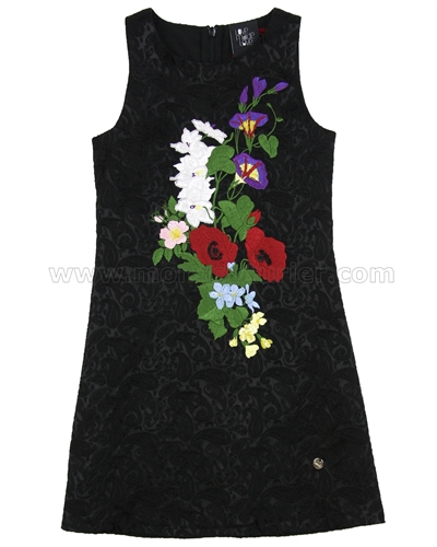 Love Made Love Sleeveless Jacquard Dress