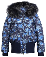 Lisa-Rella Girls' Down Floral Bomber