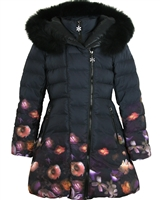 Lisa-Rella Girls' A-line Quilted Down Coat