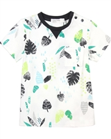 Miles Baby Boys Long Leafs Printed T-shirt