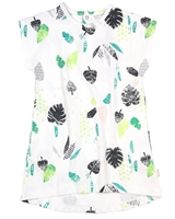 Miles Baby Girls Dress in Leafs Print