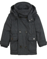 Mayoral Boy's Felt Coat with Hood