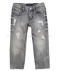 Mayoral Boy's Washed Denim Pants Gray