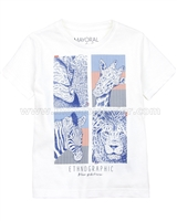 Mayoral Boy's Safari Print T-shirt
