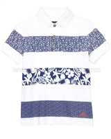 Mayoral Boy's Floral Print Polo