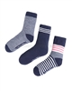Mayoral Boy's 3-pair Socks Set Navy/Coral