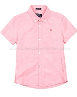 Mayoral Boy's Linen Short Sleeve Shirt