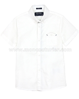 Mayoral Boy's Short Sleeve Shirt White