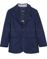 Mayoral Boy's Linen Blazer Navy