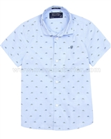 Mayoral Boy's Short Sleeve Shirt Blue