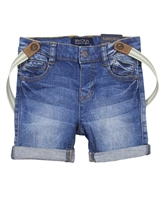 Mayoral Boy's Denim Shorts with Suspenders
