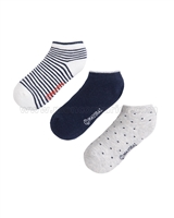 Mayoral Boy's 3-pair Shorts Socks Set Navy/White