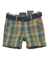 Mayoral Boy's Plaid Shorts with Belt
