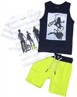 Mayoral Boy's T-shirts and Shorts, Three-piece Set