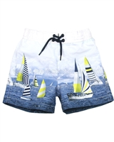 Mayoral Boy's Swim Shorts with Ocean Print