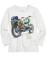 Mayoral Boy's Gray T-shirt with Motorcycle Print