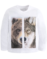 Mayoral Boy's T-shirt with Wolf Print