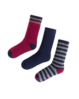 Mayoral Boy's Burgundy Striped Socks