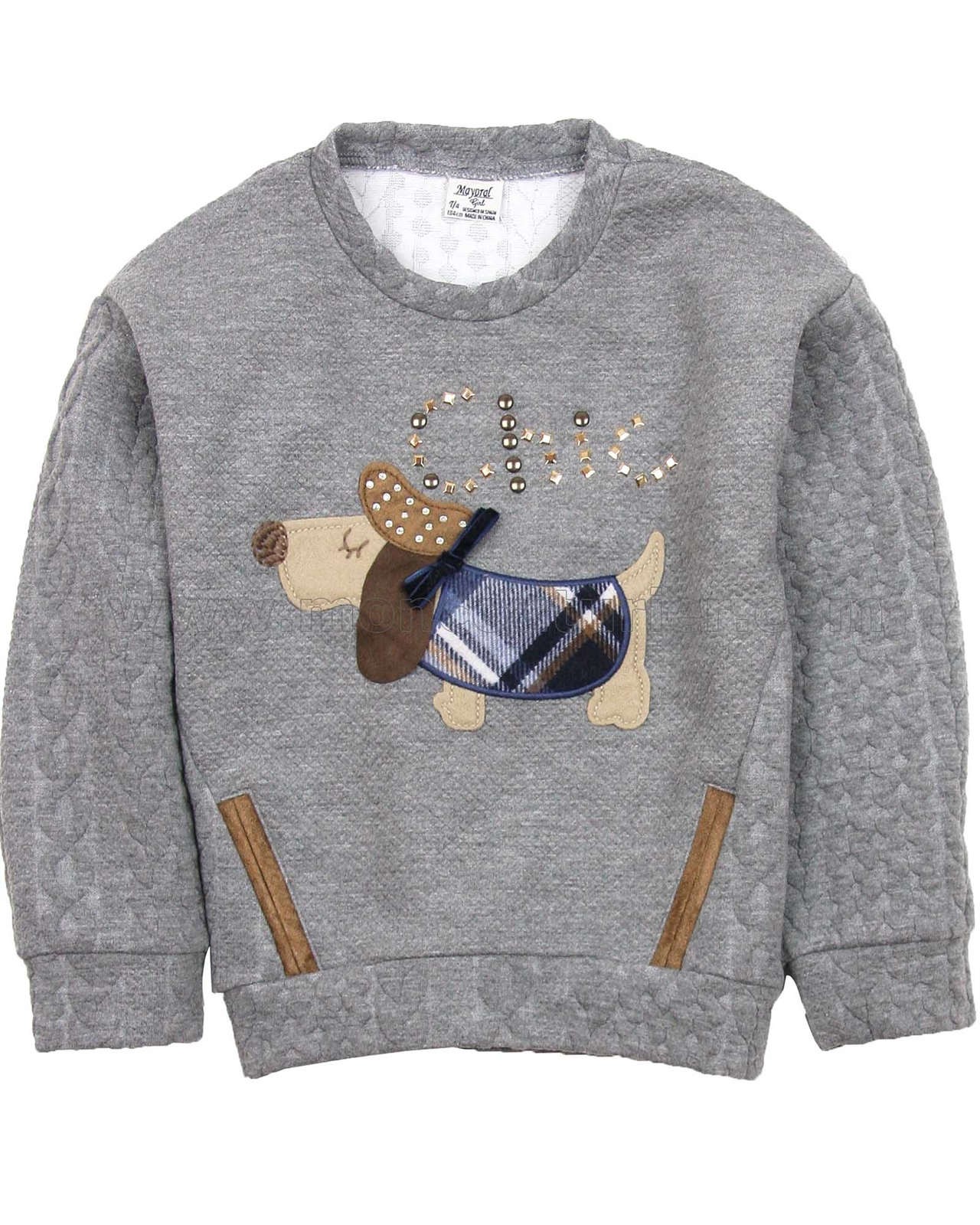 Mayoral Girl S Sweatshirt With Applique Mayoral
