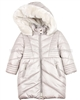 Mayoral Girl's Puffer Coat with Hood Beige