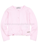 Mayoral Girl's Rib Knit Cardigan Pink