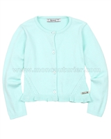 Mayoral Girl's Rib Knit Cardigan Mint