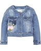 Mayoral Girl's Denim Jacket with Florals