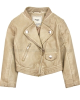 Mayoral Girl's Pleather Jacket Brown