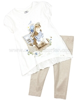 Mayoral Girl's Tunic with Puppy and Leggings Set