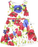 Mayoral Girl's Dress in Floral Print