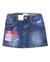 Mayoral Girl's Denim Skirt with Appliques