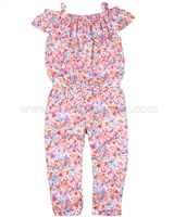 Mayoral Girl's Floral Print Jumpsuit
