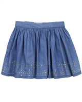 Mayoral Girl's Chambray Skirt