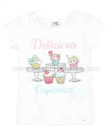 Mayoral Girl's T-shirt with Cupcakes