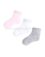 Mayoral Girl's Short Socks Set Pink/Gray