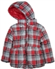 Mayoral Girl's Reversible Plaid Puffer Coat