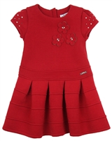 Mayoral Girl's Short Sleeve Pleated Dress