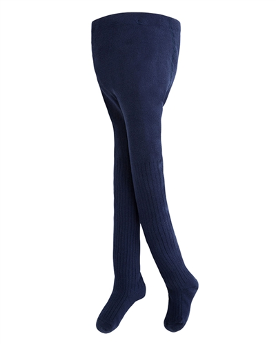 Mayoral Girl's Navy Striped Open Knit Tights