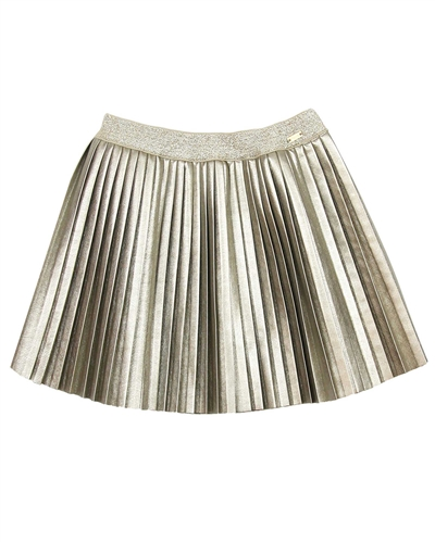 Mayoral Girl's Pleated Pleather Skirt