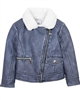 Mayoral Girl's Denim Shearling Jacket