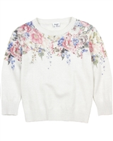 Mayoral Girl's Floral Print Pullover