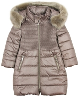 Mayoral Girl's Taupe Quilted Puffer Coat