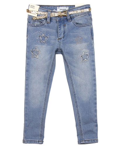 Mayoral Girl's Blue Denim Pants with Belt