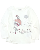 Mayoral Girl's Top with Rainy Day Print