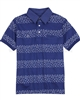 Mayoral Junior Boy's Polo with Printed Stripes