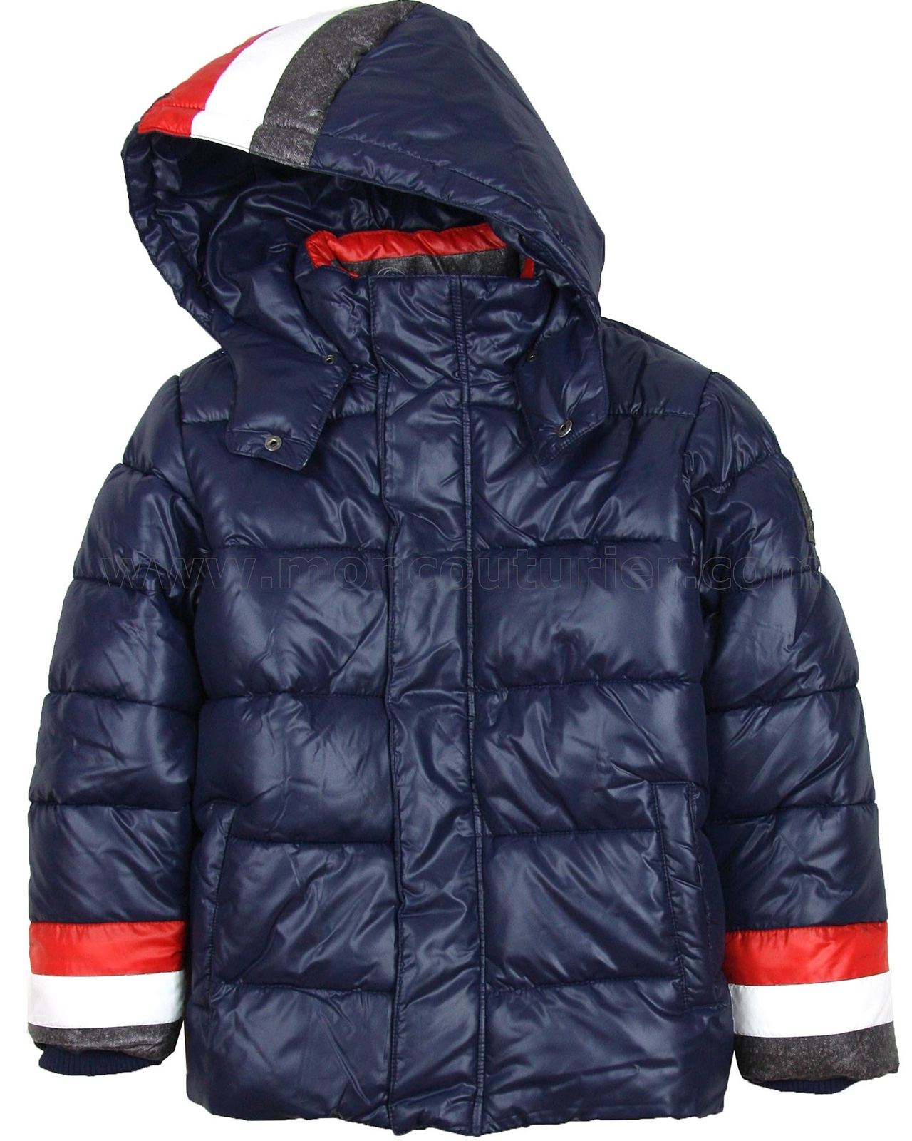 Mayoral Junior Boy S Puffer Coat With Stripes Mayoral