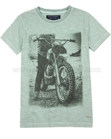 Mayoral Boy's T-shirt with Motorcycle Print
