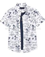 Mayoral Boy's Layered Shirt White