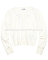 Mayoral Girl's Knit Cardigan White